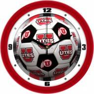 Utah Utes Soccer Wall Clock