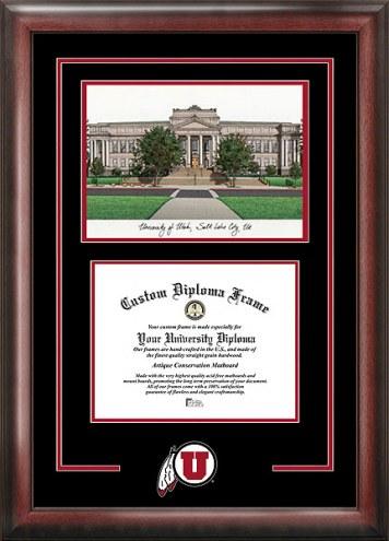 Utah Utes Spirit Diploma Frame with Campus Image