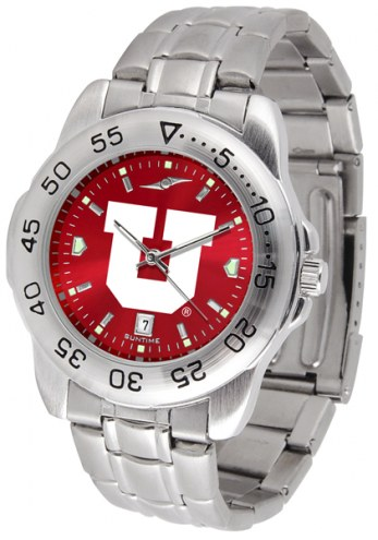 Utah Utes Sport Steel AnoChrome Men's Watch