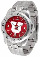 Utah Utes Sport Steel AnoChrome Men's Watch