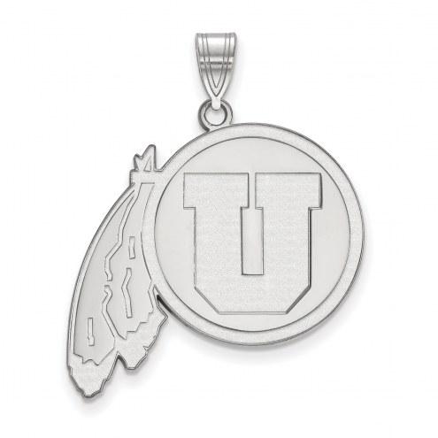 Utah Utes Sterling Silver Extra Large Pendant