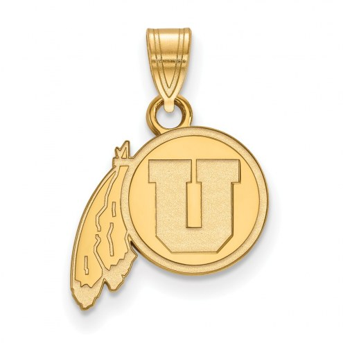 Utah Utes Sterling Silver Gold Plated Small Pendant