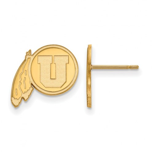 Utah Utes Sterling Silver Gold Plated Small Post Earrings