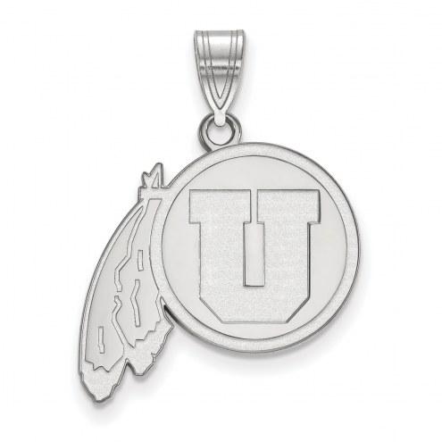 Utah Utes Sterling Silver Large Pendant