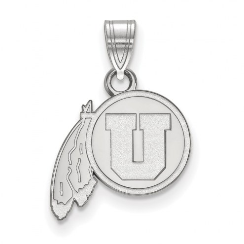 Utah Utes Sterling Silver Small Pendant