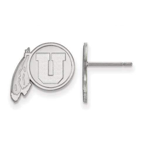 Utah Utes Sterling Silver Small Post Earrings