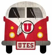 Utah Utes Team Bus Sign