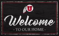 Utah Utes Team Color Welcome Sign