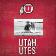 "Utah Utes Team Name 10"" x 10"" Picture Frame"