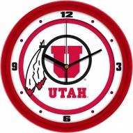 Utah Utes Traditional Wall Clock