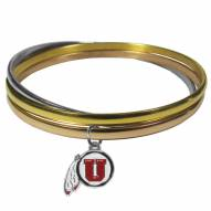 Utah Utes Tri-color Bangle Bracelet