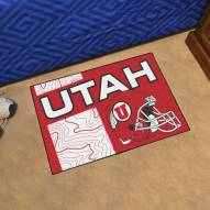 Utah Utes Uniform Inspired Starter Rug