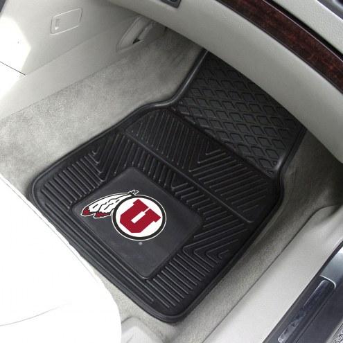 Utah Utes Vinyl 2-Piece Car Floor Mats
