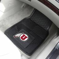Utah Utes Vinyl 2-Piece Car Floor Mats