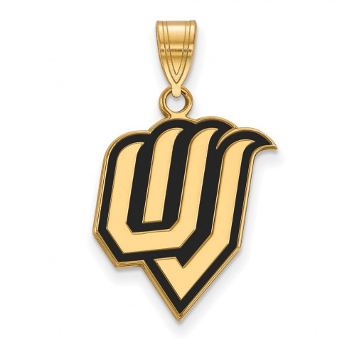 Utah Valley Wolverines Sterling Silver Gold Plated Large Enameled Pendant