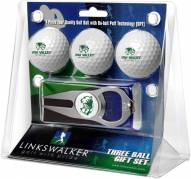 Utah Valley Wolverines Golf Ball Gift Pack with Hat Trick Divot Tool