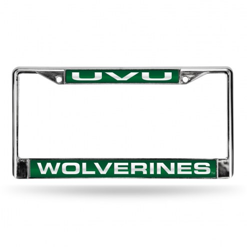 Utah Valley Wolverines Laser Chrome License Plate Frame