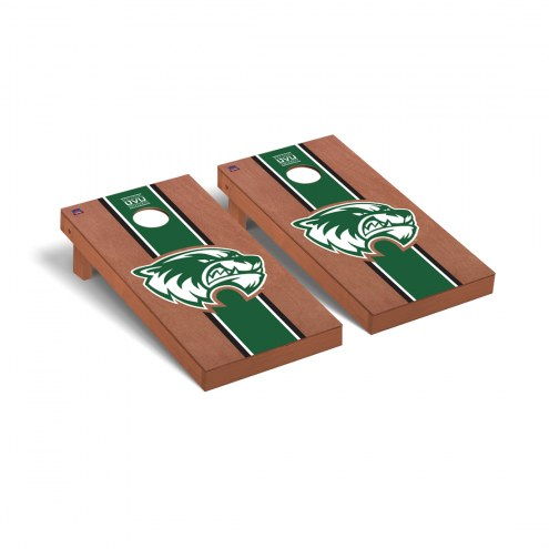 Utah Valley Wolverines Rosewood Stained Stripe Cornhole Game Set
