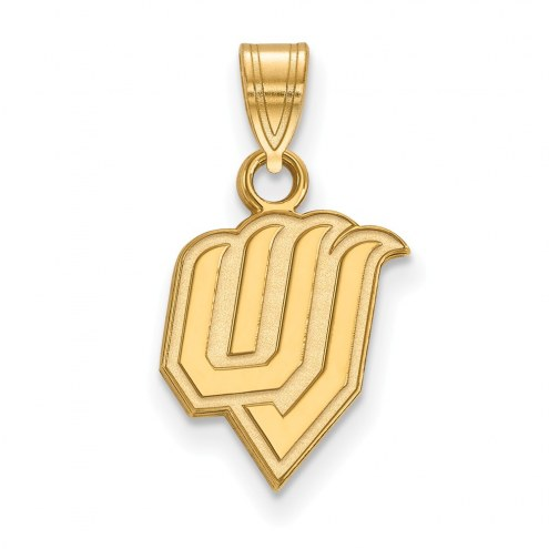 Utah Valley Wolverines Sterling Silver Gold Plated Small Pendant