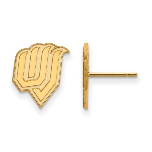 Utah Valley Wolverines Sterling Silver Gold Plated Small Post Earrings