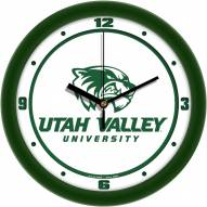 Utah Valley Wolverines Traditional Wall Clock