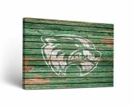 Utah Valley Wolverines Weathered Canvas Wall Art