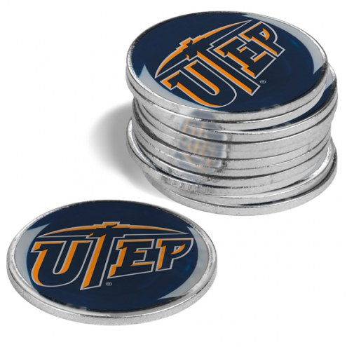 UTEP Miners 12-Pack Golf Ball Markers