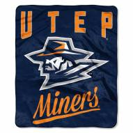 UTEP Miners Alumni Raschel Throw Blanket