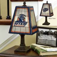 UTEP Miners Art Glass Table Lamp