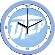 UTEP Miners Baby Blue Wall Clock