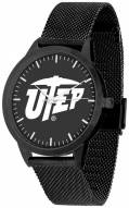 UTEP Miners Black Dial Mesh Statement Watch