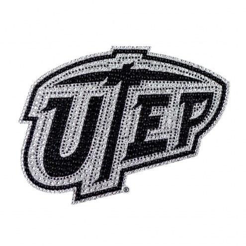 UTEP Miners Bling Car Emblem