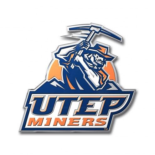 UTEP Miners Color Car Emblem