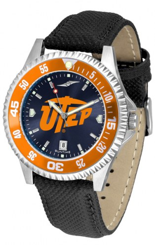 UTEP Miners Competitor AnoChrome Men's Watch - Color Bezel