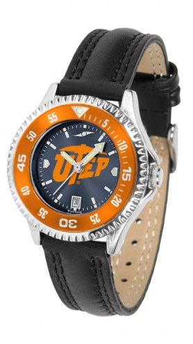 UTEP Miners Competitor AnoChrome Women's Watch - Color Bezel