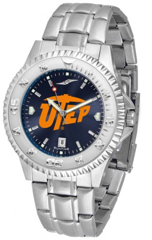 UTEP Miners Competitor Steel AnoChrome Men's Watch