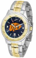 UTEP Miners Competitor Two-Tone AnoChrome Men's Watch