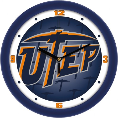 UTEP Miners Dimension Wall Clock