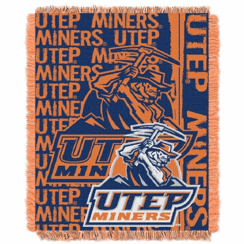 UTEP Miners Double Play Woven Throw Blanket