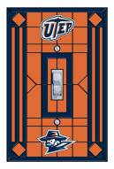 UTEP Miners Glass Single Light Switch Plate Cover