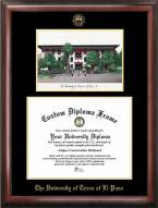 UTEP Miners Gold Embossed Diploma Frame with Lithograph