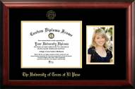 UTEP Miners Gold Embossed Diploma Frame with Portrait