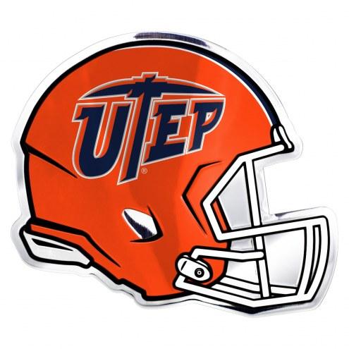 UTEP Miners Helmet Car Emblem