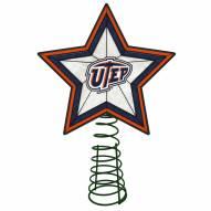 UTEP Miners Light Up Art Glass Tree Topper