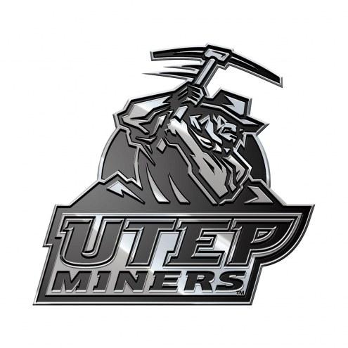UTEP Miners Metal Car Emblem