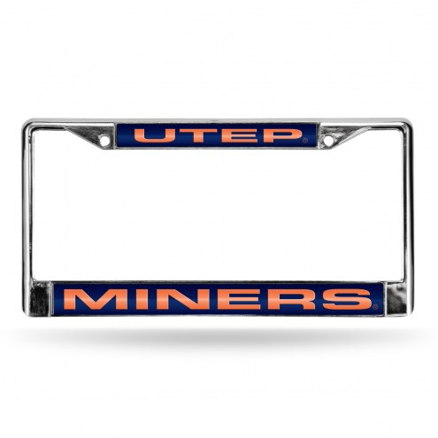 UTEP Miners NCAA Laser Chrome License Plate Frame