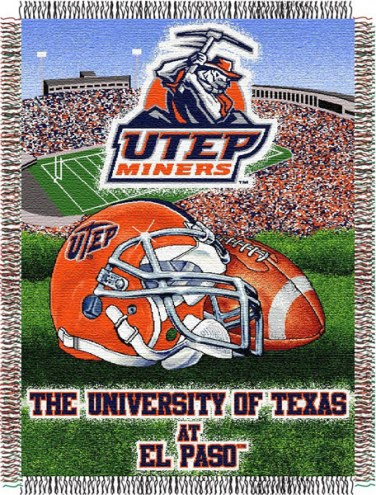 UTEP Miners NCAA Woven Tapestry Throw Blanket