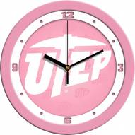 UTEP Miners Pink Wall Clock