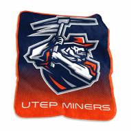 UTEP Miners Raschel Throw Blanket