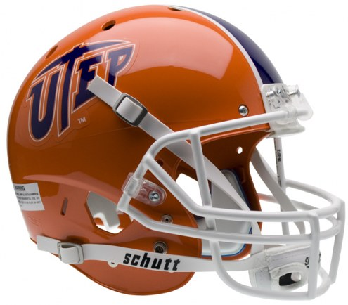 UTEP Miners Schutt XP Collectible Full Size Football Helmet